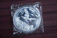 Rare 999 Shanghai Mint 5oz Silver Coin,eagle,1990,free shipping