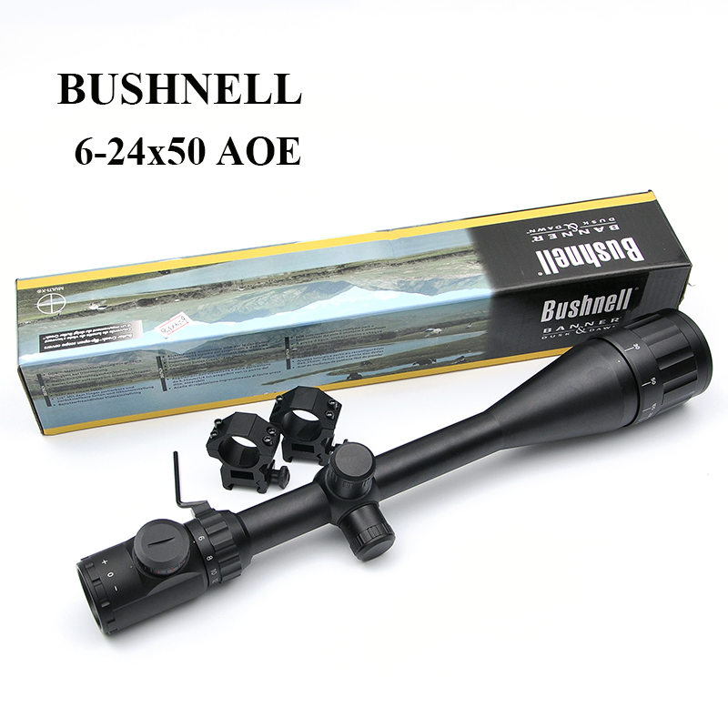 6-24X50 AOE  Green Red Mil-dot Illuminated Tactical Riflescope Reticle Optical Sight Scope Outdoor Hunting Scopes 1pc 6 24x50 riflescope adjustable green red dot hunting light tactical scope reticle optical sight scope with 20mm or 11mm rails