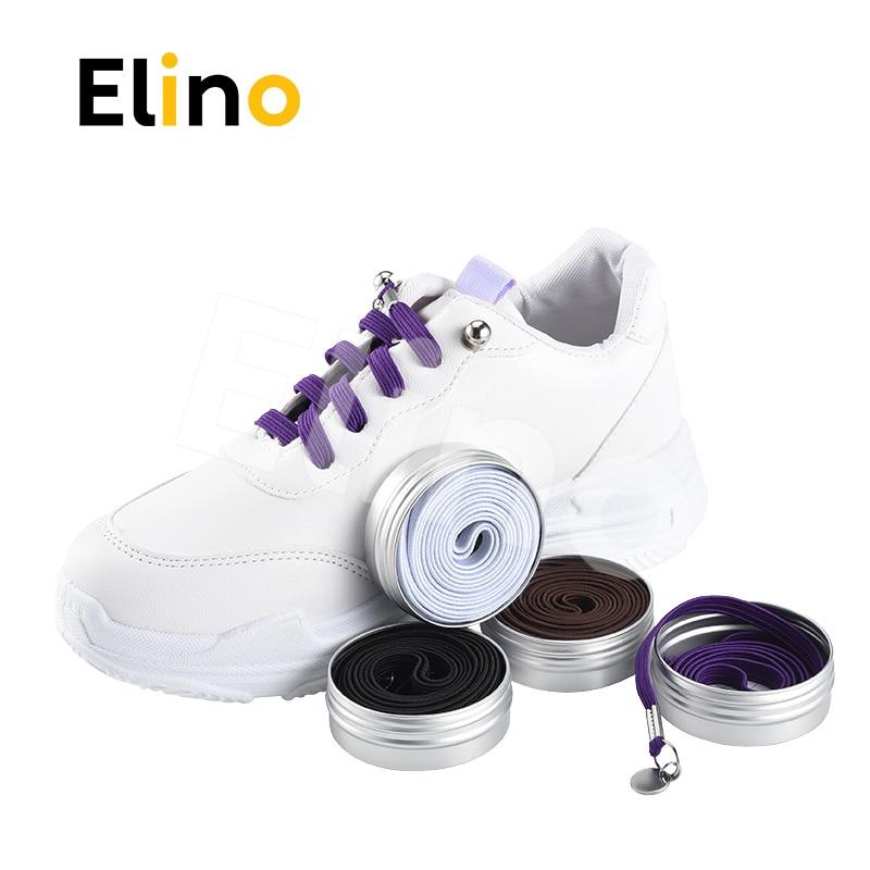 2018 New Fashion ShoeLaces No Tie Quick Elastic Sneaker for Men Women One-handed shoelace Purple White Black Brown fashion union flag pattern 5cm width black tie for men