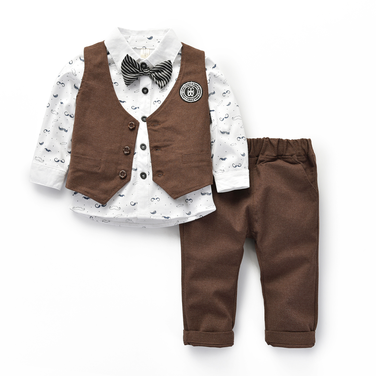 12 month newborn baby boys clothes boy suit gentleman set for baby children formal kids christening suits for boys in Clothing Sets from Mother Kids