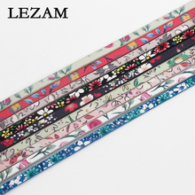 1 Yard Mixed Colors Flower Pattern Faux Leather Cord for DIY 5mm Flat Leather Bracelet  Making chic faux leather adorn bracelet