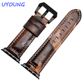 Quality Genuine Leather Watchband For Apple Iwatch 42mm Sheep Skin Strap Camouflage Watch accessories