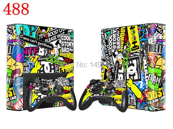 OSTSTICKER Vinyl Decal Skin Sticker for Xbox 360 E and 2 controller skins sticker bomb for xbox 360 E
