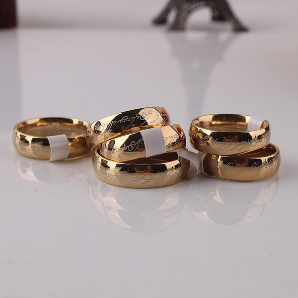 Aliexpresscom Buy Classic Men Women LOTR Gold GP Wedding Band
