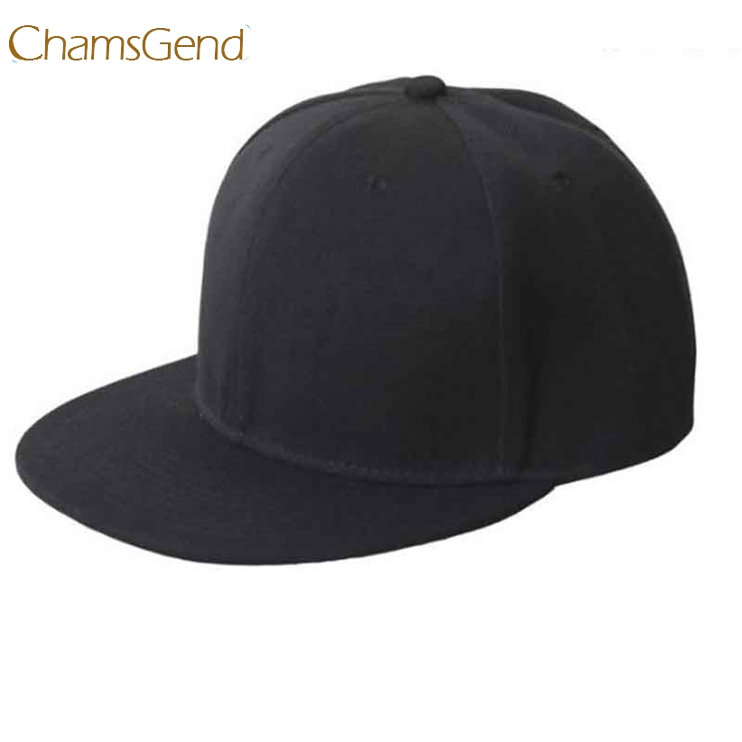 Baseball Cap Chamsgend Newly Design Black Blank Plain Snapback Hats Hip-Hop Adjustable Bboy Hat June30 Drop Shipping