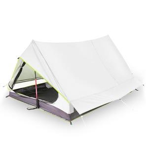 Image 3 - Lixada tienda de campaña ultraligera para 2 personas refugio de malla de doble puerta, perfecto para acampar, mochilero y a través de tiendas de campaña para acampar al aire libre