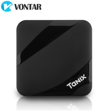 ТВ приставка VONTAR Tanix TX3 MAX, Android 9,0, 2 + 16 ГБ, BT4.1, Amlogic S905W, 4 ядра, H.265, 4K, 2,4 ГГц, Wi Fi