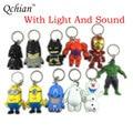 Key Chains Darth Vader keychain Holder The Avengers Alliance Hulk Iron Man Big Hero 6 Batman Olaf Led Keyrings