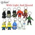Key Chains Darth Vader keychain Holder The Avengers Alliance Hulk Iron Man Big Hero 6 Olaf Led Keyrings