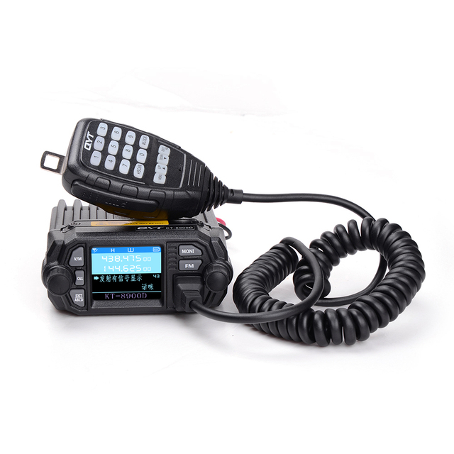 100% Original QYT KT 8900D Auto Radio 200 Kanäle VHF/ UHF FM Fahrzeug Montiert Radio Transceiver Walkie Talkie