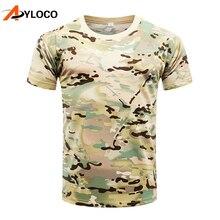 2018 verão python camuflagem masculino camisetas combate do exército tático  t shirt militar dos homens de manga curta quick dry . f9057648ef9d