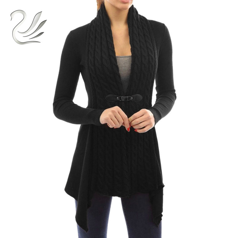 Autumn Winter Women Sweater 2018 Fashion Casual Irregular Long Sleeve Knitted Sweater Ca ...