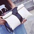 2017 мода pu кожаные сумки маленькие твердые лук женщины вечерние сумки сцепления женский конверт плеча женщин сумки посыльного
