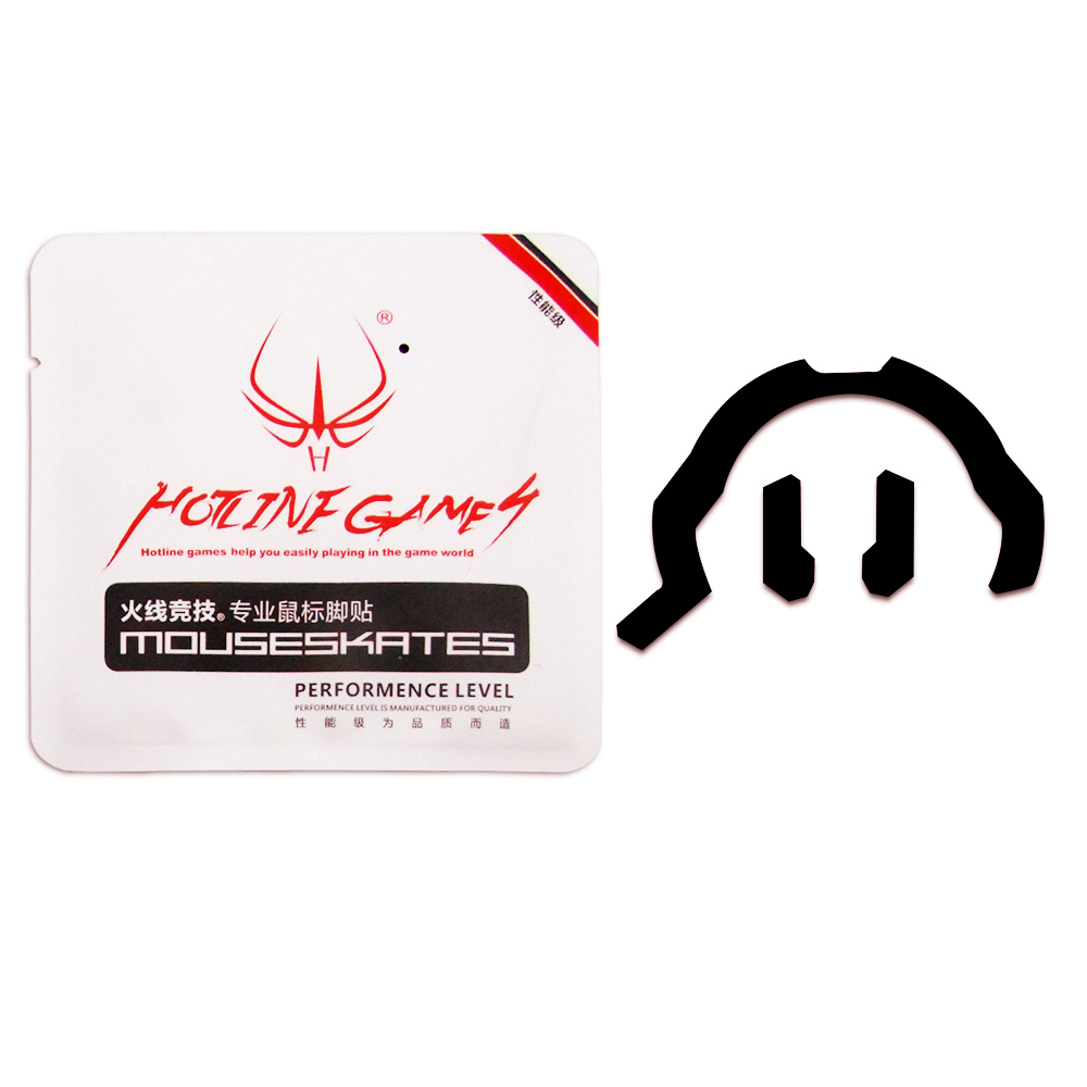 2 Sets/pack Hotline Games Professional Gaming Mouse Feet/skates For Roccat Kone-XTD Black Teflon Thickness 0.28mm