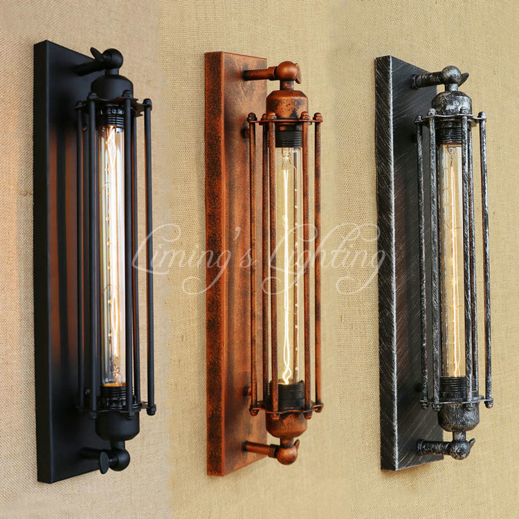 Retro Loft Style Iron Edison Wall Sconce Industrial Lamp Vintage Wall Light T300 Bulb Home Antique Indoor Lighting Lampara Pared two tone knot elastic hair band