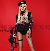 Hot Summer new Women DS singer DJ Beyonce spicy chicken 2016 stage runway shows nightclubs Fashion costumes Dress