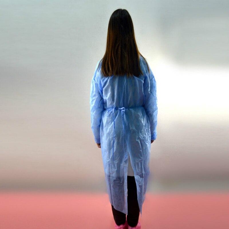 Image 2 - 10 pz Rosa Monouso Camice Chirurgico Abito Sottile E Leggero  Vestiti di Polvere Tute e Salopette Una Volta Grembiuli Abbigliamento  Medica Per Camere Bianche Abbigliamento-in Indumenti di protezione da  Sicurezza e protezione su