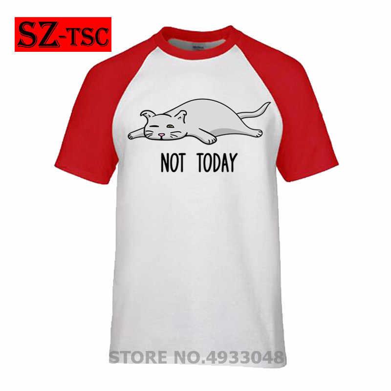 Shrek T Shirt ไม่วันนี้ตลกน่ารักขี้เกียจหวานแมวแมวของขวัญเสื้อยืด Graphic Tee เสื้อแขนสั้น Mens ผ้าฝ้าย Tshirt