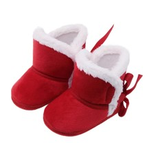 Baby Warm Winter Boots First Walkers Newly Baby Girls Shoes Fur Snow Warm Boots