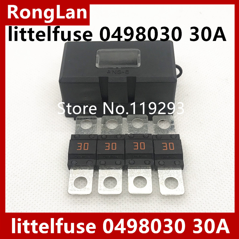 BELLA 0498030 30A automotive fuse bolted littelfuse imported special forces with box 20pcs lot
