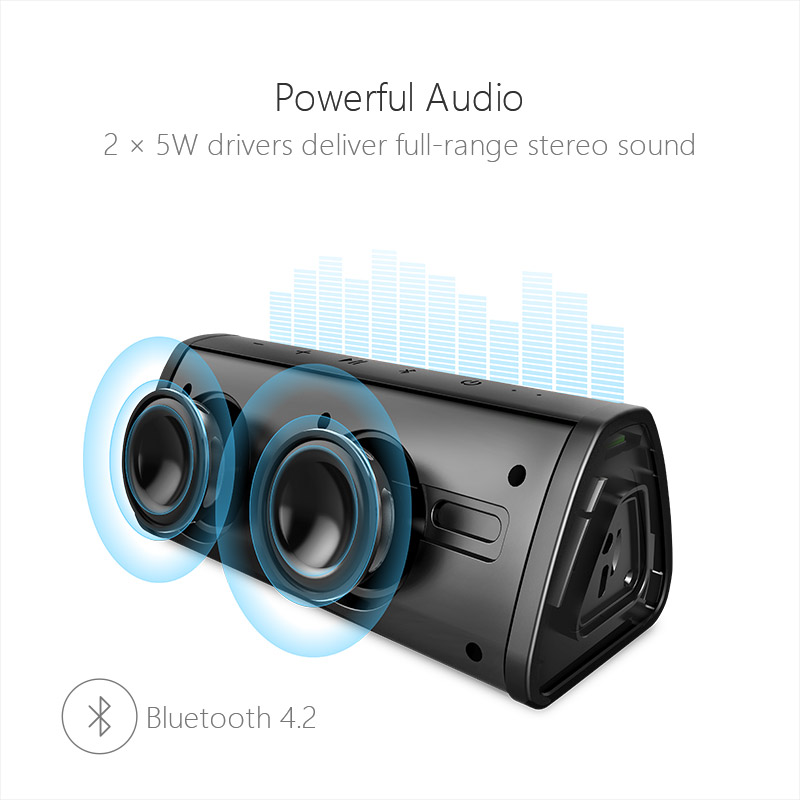 Portable Wireless Bluetooth Speaker Waterproof Sound System 1 2
