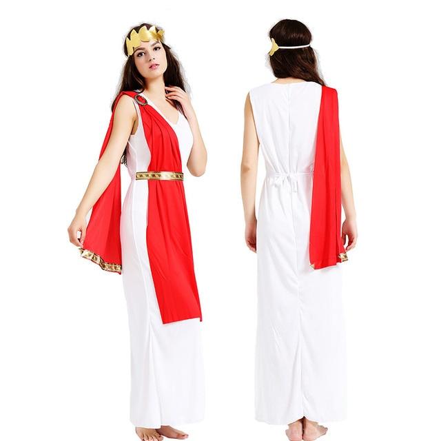 2018 Women Men Ancient Greece Goddess Cosplay Costume Adults ...