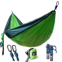 Double Camping Hammock Lightweight Nylon Portable Two Person Hammocks Outdoor U71130