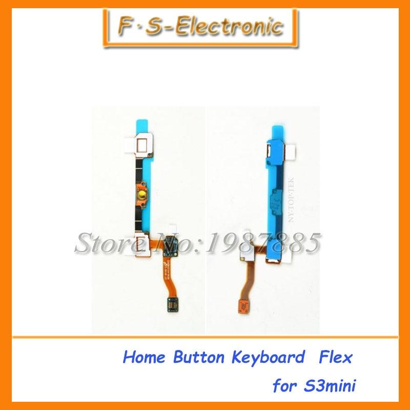 Горячая продажа для Samsung Galaxy S3 Mini i8190 Главная Кнопка Ключевые touch Сенсор клавиатура гибкий ленточный кабель