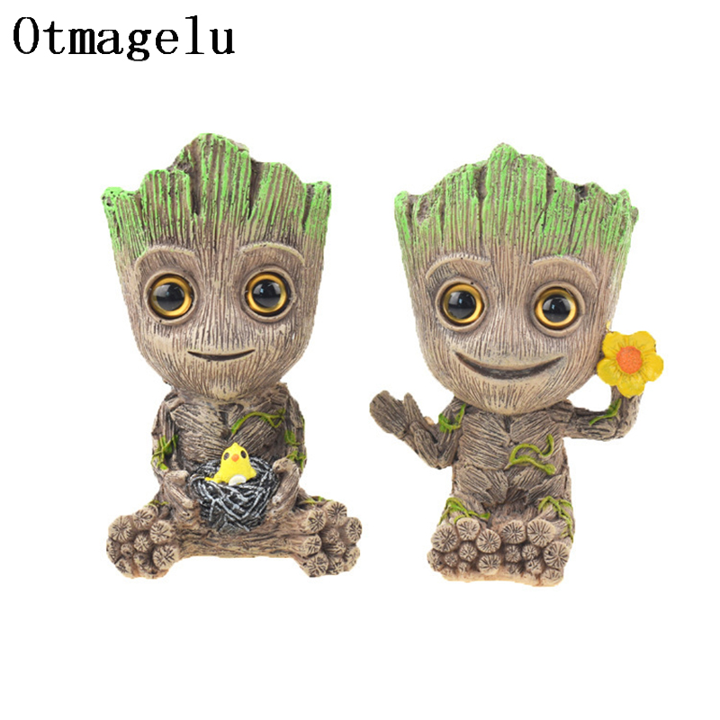 Cute Tree Man Figurine Garden Aquarium Decoration Root Air Bubble Driftwood Statue Fish Tank Background Ornament Rock Shelter5