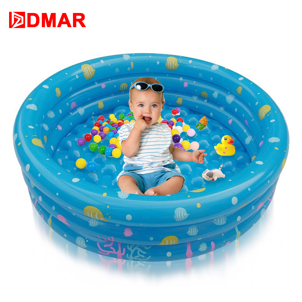 DMAR Inflatable Pool for Kids Baby Infants 3 Sizes Bathtub Swimming ...