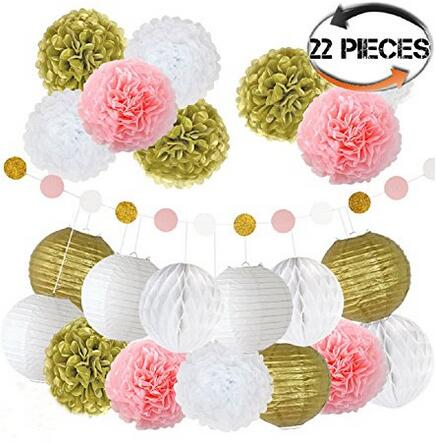 Tissue paper flower kit 22 pcs pretty party supplies easy to tissue paper flower kit 22 pcs pretty party supplies easy to decorate elegant mightylinksfo Image collections