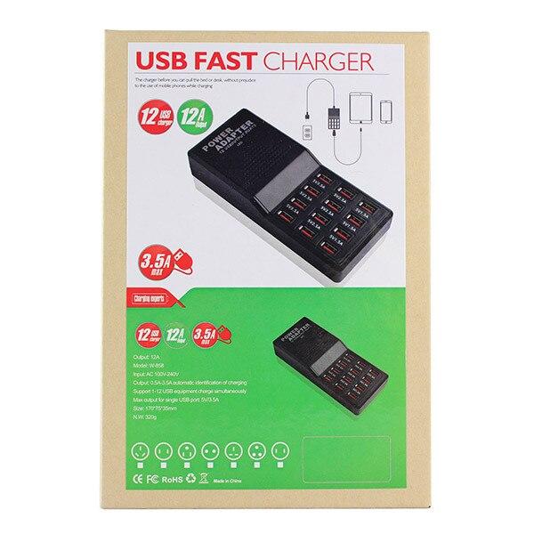 12 יציאת 5V תפוקה מקס 3.5 לחייב את האב Multipe USB שולחן העבודה מהר מטען עבור טלפון חכם, Tablet PC