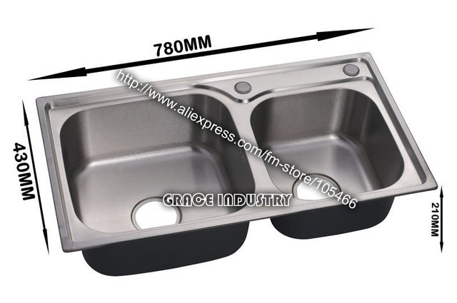 kitchen sink,kitchen bowl,double bowl,stainless steel  brushed ,anti-rust,promotion,top quality