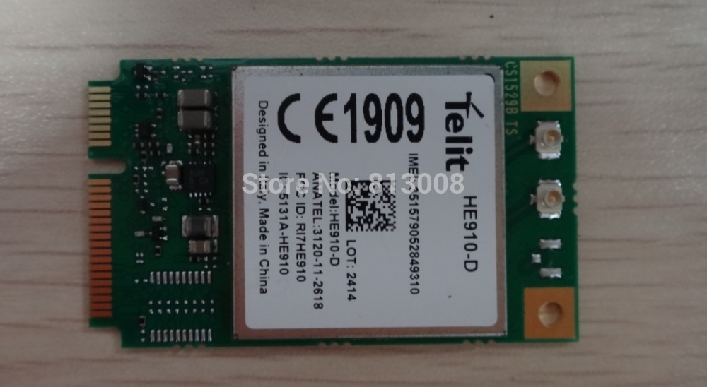 HE910-D Telit Mini PCIe UMTS HSPA EV-DO Embedded quad-band 3.75G WCDMA Module 100% New&Original Distributor Free Ship in Stock