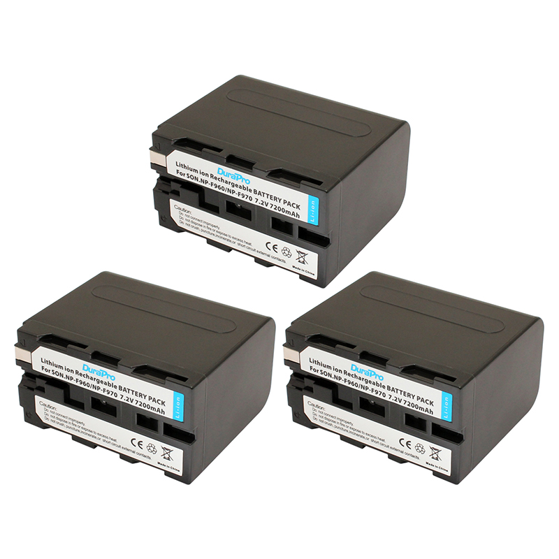 3 pièces NP-F960 NP-F970 NP F960 NP F970 Rechargeable Batterie Pour Sony F975 F970 F960 F950MC1500C 190 P 198 P F950 MC1000C TR516 TR555