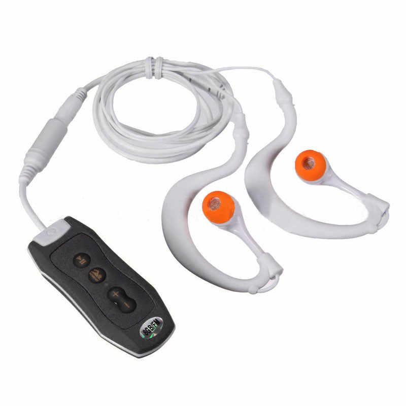 4 ГБ зажим IPX8 Водонепроницаемый Mp3 плеер FM Радио MP3 музыкальный плеер для плавания и дайвинга с наушники гарнитура # EC