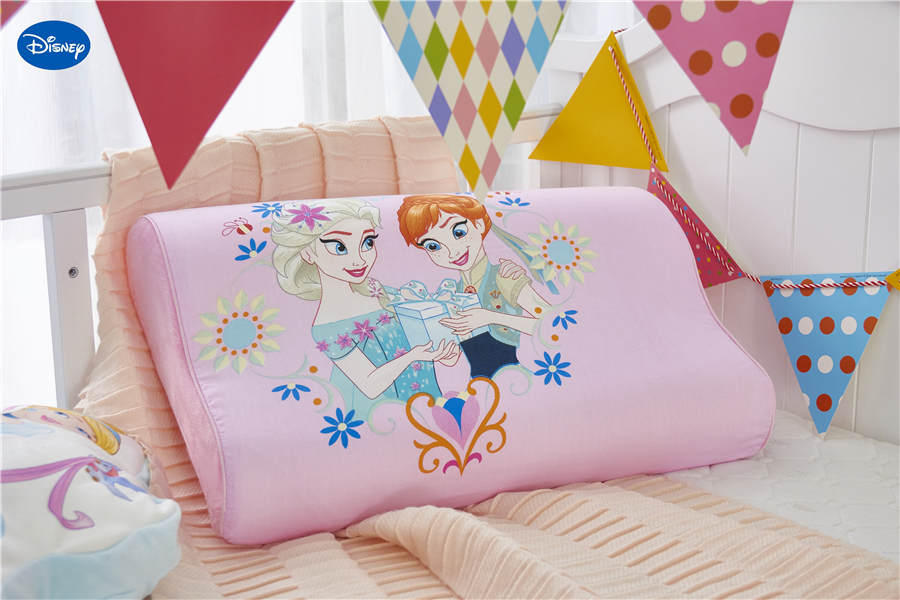 pink princess Printed Memory Pillows 50x30cm Slow Rebound Waving Foam Neck Cervical Travel Healthcare Children's Bedding HOT 1pc