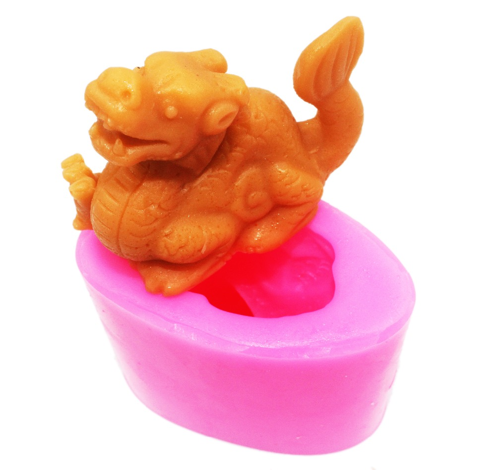 Sárkány szilikon szappan penész Diy kézzel készített kézműves 3d szappan formák S187