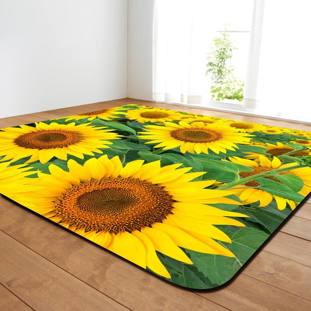 Creative fleur imprimer moderne tapis chambre salon thé Table tapis cuisine salle de bains antidérapant tapis couverture décor à la maison - 6
