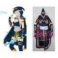 2016 Hot Game LOL ashe Cosplay Costume Blue Dress Ashe Cosplay Dress Halloween Costume Custom Made Any Size