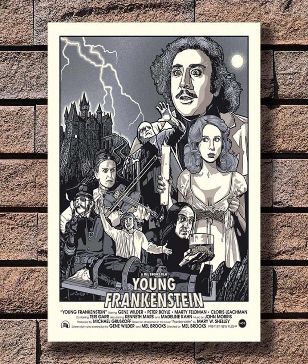 B-253 Jong Frankenstein Horror Movie Classic Film Poster Art L-W Canvas Print Decoratie 12x18 24x36 27x40 inch