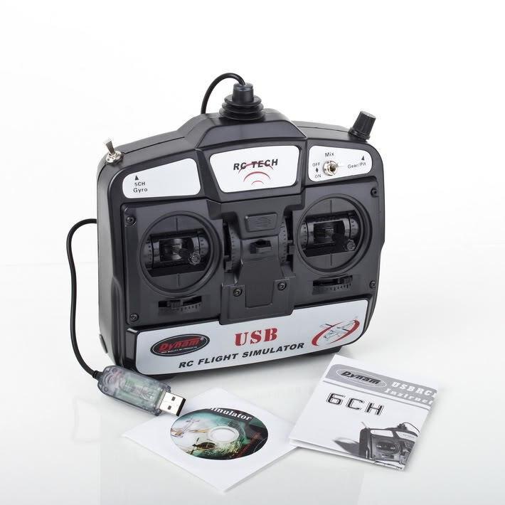 Brand NEW 6 channel Remote Control simulator Dynam 6ch Gyro USB RC Flight simula