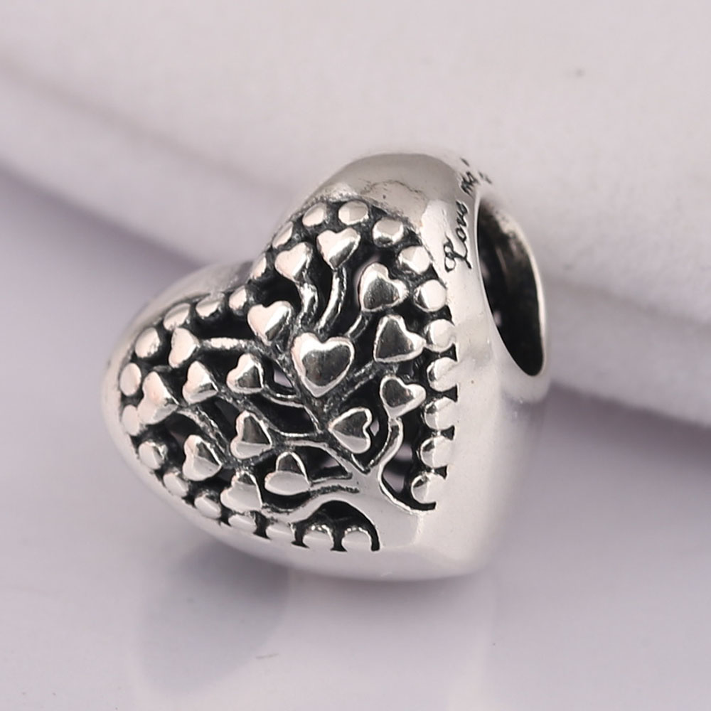 ae469e8c4 ... new zealand 925 sterling silver bead flourishing hearts charm fit  original pandora bracelet bangle diy jewelry