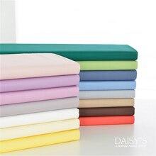 245cm X 50cm Solid Color Twill Cotton Garment Bedding Fabric Cloth Plain Multicolor White Pink Optional 280g/m
