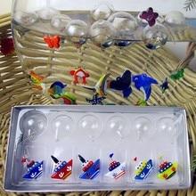 Munuola style hand blown glass crafts aquarium fish float micro warship decorative sculpture