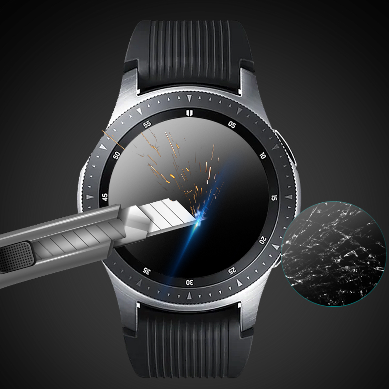 Screen Protector For Galaxy Watch 46/42mm HD Tempered Glass Film 9H Hardness Anti-Scratch Protective Film For Samsung Gear S3(China)