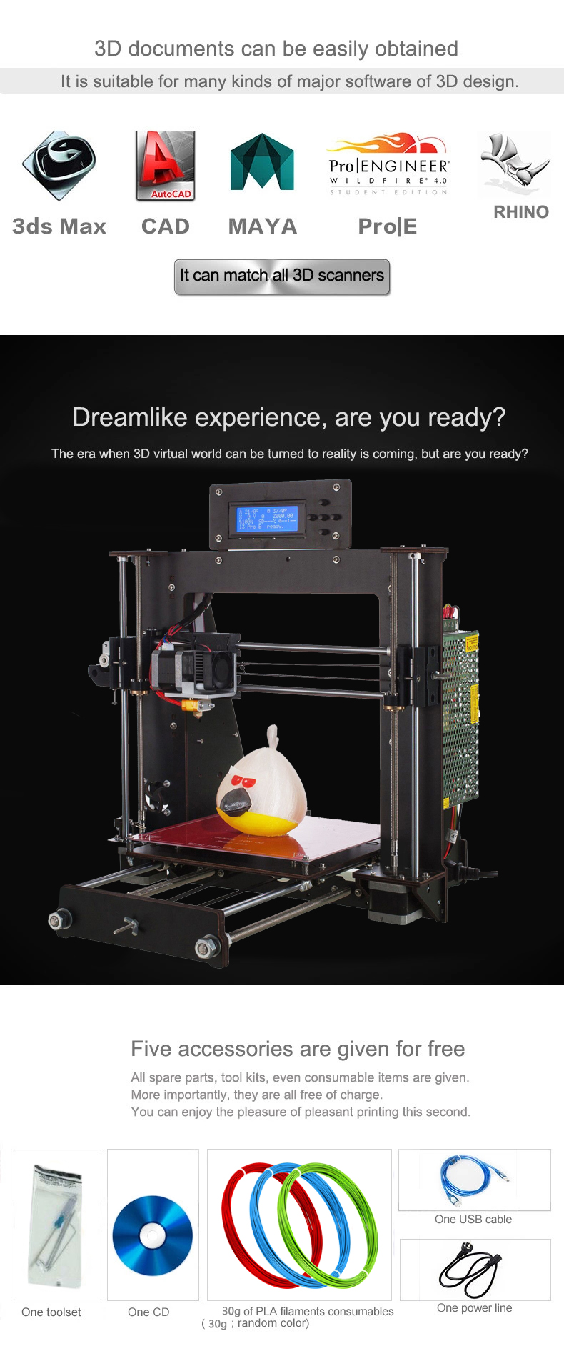 3D Printer with Power Failure Resume Printing and LCD Screen for High Precision Printing 10