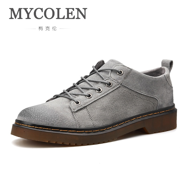 MYCOLEN Men Casual Shoes Flat Male Walking Shoes Leather Fashion Sneakers Spring Autumn Mens Rubber Shoes Schuhe Herren