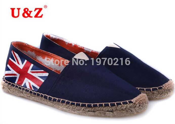 ФОТО Newest fashion Male British Style Canvas Espadrilles Casual shoes,The Union Jack Flats shoes/the Union Flag driving shoes