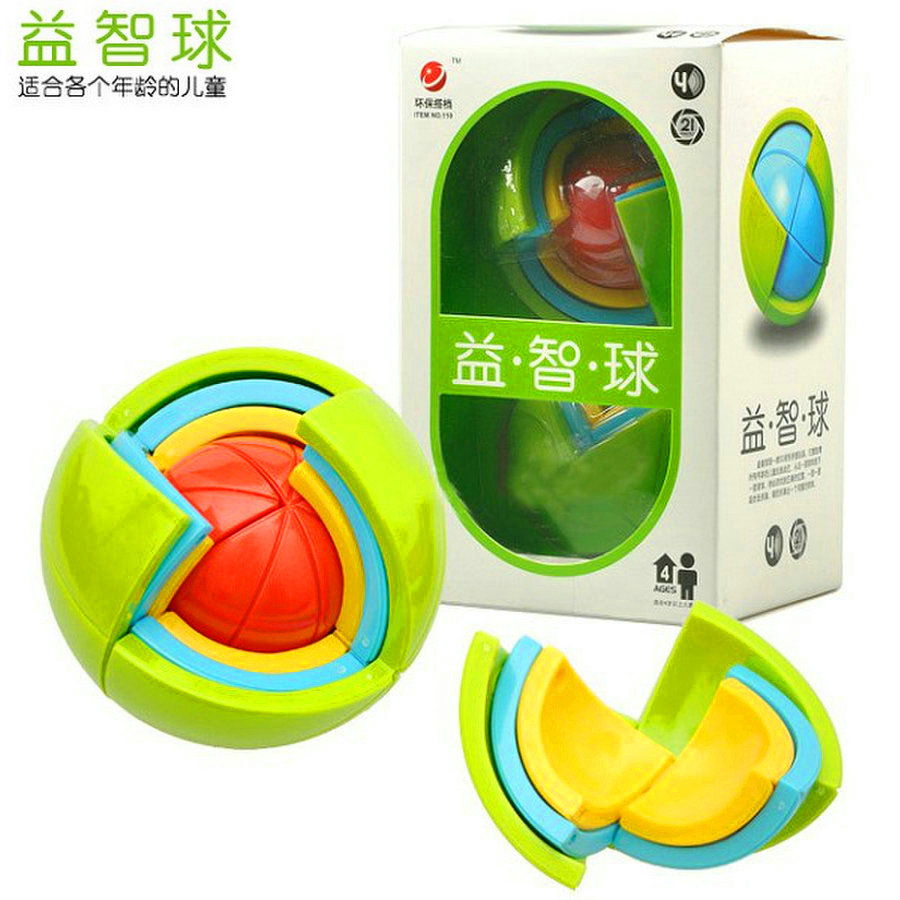 New DIY 3D Magic Intellect Puzzle Maze Ball Brain Teaser Game Educations for Kids IQ Training Logical Puzzle Children Toy
